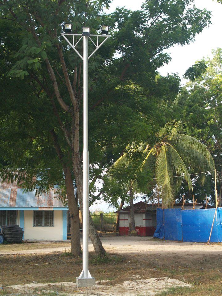 solar floodlights installed at Mati