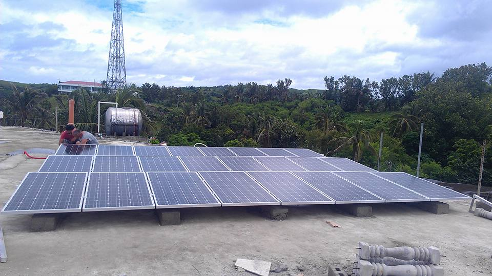 Simax solar panels installed in Batanes General Hospital.