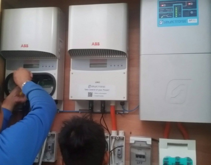 Selectronic inverter installation at Gimaras