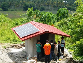 installation of solar panels at South Cotabato