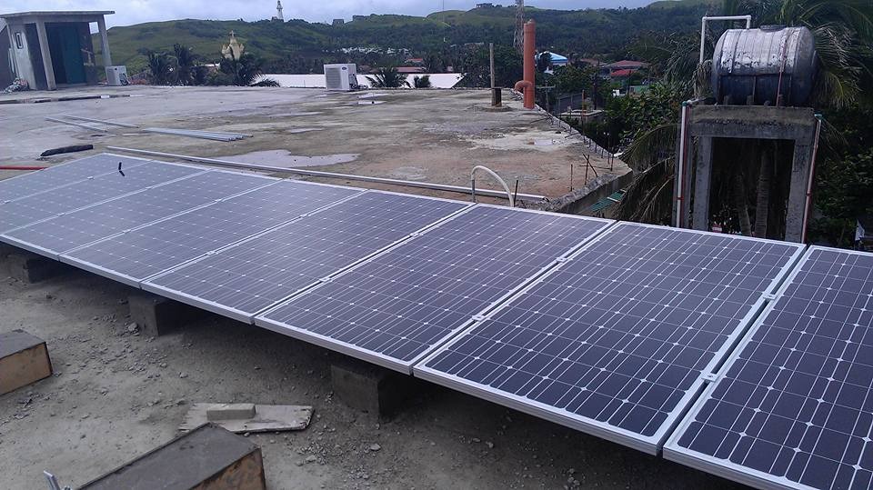 Solar being installed at Batanes General Hospital, July 2015