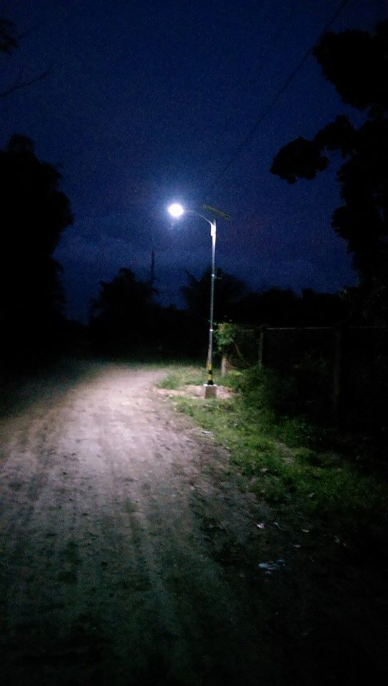 night time solar street light at sultan gudgerat